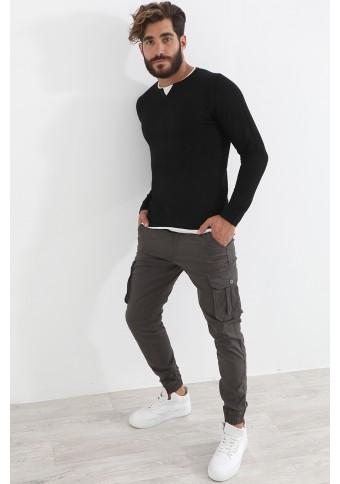 Ανδρική Πλεκτή Μπλούζα Such Black