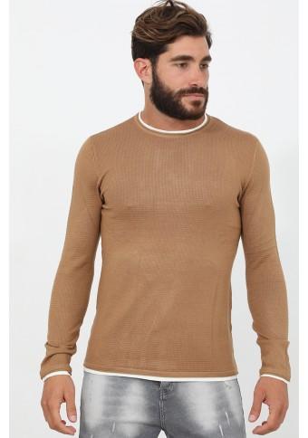 Ανδρική Πλεκτή Μπλούζα Quick Camel