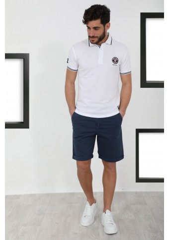 Ανδρικό Polo Serious White