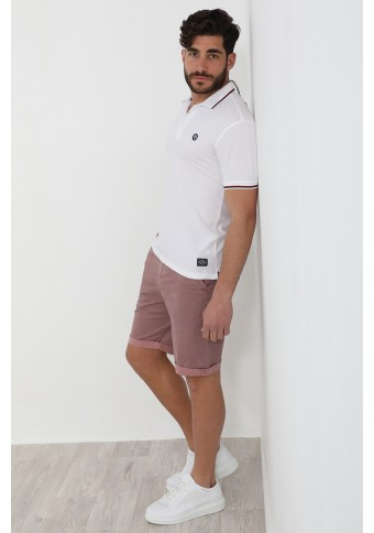 Ανδρικό Polo Both White