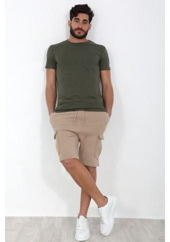 Ανδρικό T-Shirt Pocket Khaki