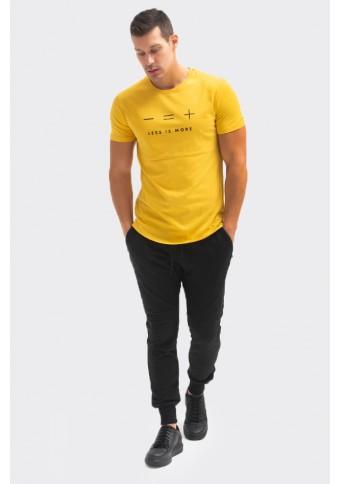 Ανδρικό T-Shirt Less Mustard