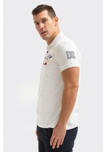 Ανδρικό Polo Brand White