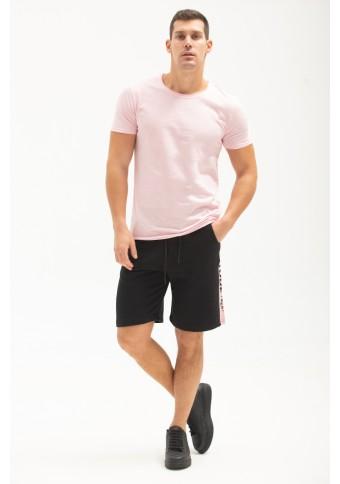 Ανδρικό T-Shirt Open Νeck Pink