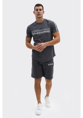 Ανδρικό T-shirt Basket D.Grey