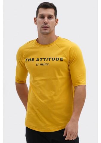 Ανδρικό T-shirt Mine Mustard
