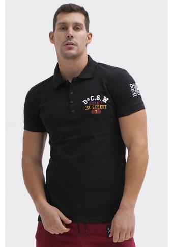 Ανδρικό Polo Brand Black