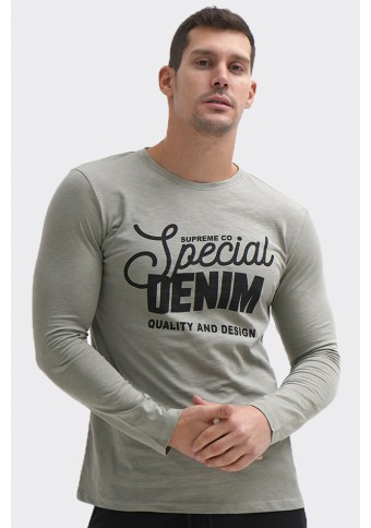 Ανδρική Μπλούζα Special Ice Grey