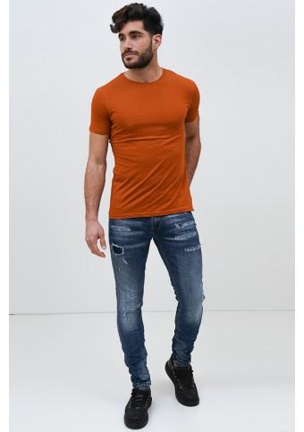 Ανδρικό T-shirt Becasual Cinnamon