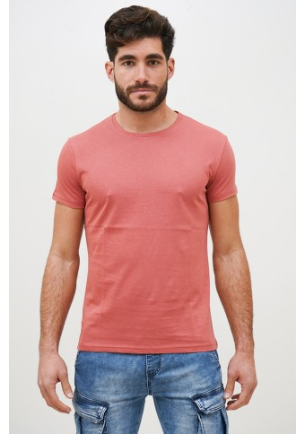 Ανδρικό T-shirt Becasual Salmon