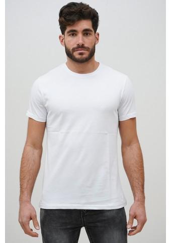 Ανδρικό T-shirt Becasual White