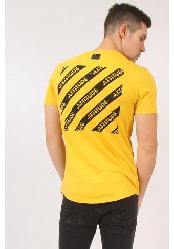 Ανδρικό T-shirt Square Mustard