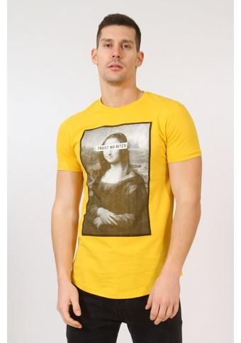 Ανδρικό T-shirt Trust Mustard