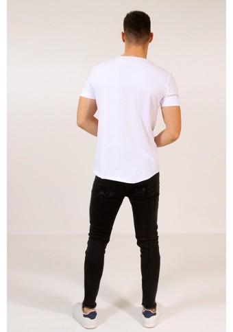 Ανδρικό T-shirt Colorful White