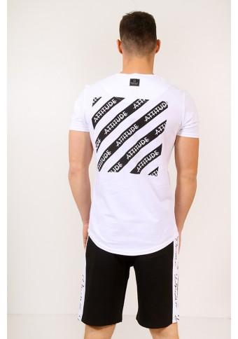 Ανδρικό T-shirt Square White