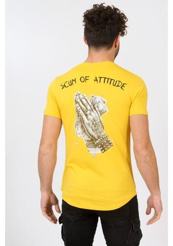 Ανδρικό T-shirt Psycho Mustard