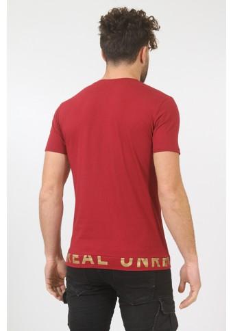 Ανδρικό T-shirt Shiny Bordeaux