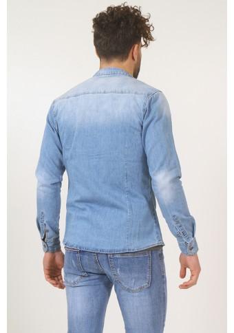 Ανδρικό Jean Πουκάμισο Company Blue