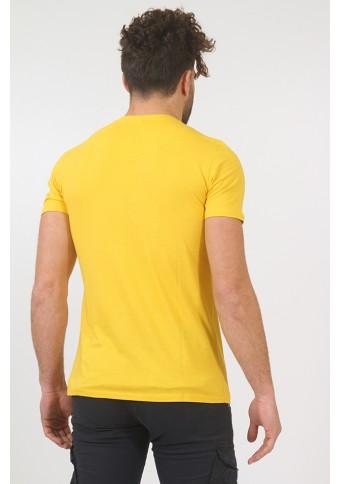Ανδρικό T-shirt Becasual Mustard