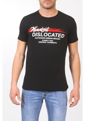 Ανδρικό T-shirt Dislocated Black