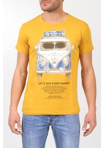 Ανδρικό T-shirt Faster Mustard