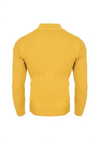 Ανδρική Πλεκτή Μπλούζα Λουπέτο Mustard