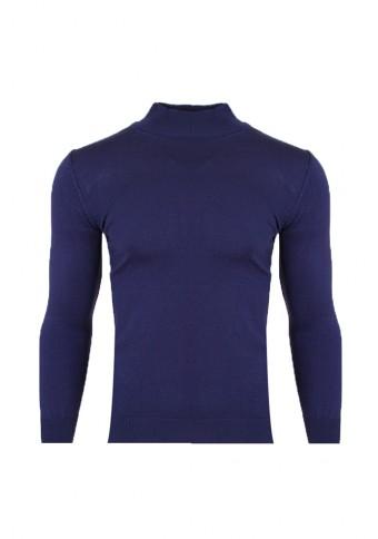 Ανδρική Πλεκτή Μπλούζα Λουπέτο Blue