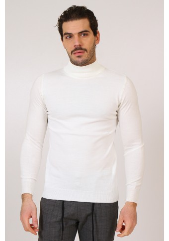 Ανδρική Πλεκτή Μπλούζα Λουπέτο White