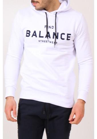 Ανδρικό Φούτερ Balance White
