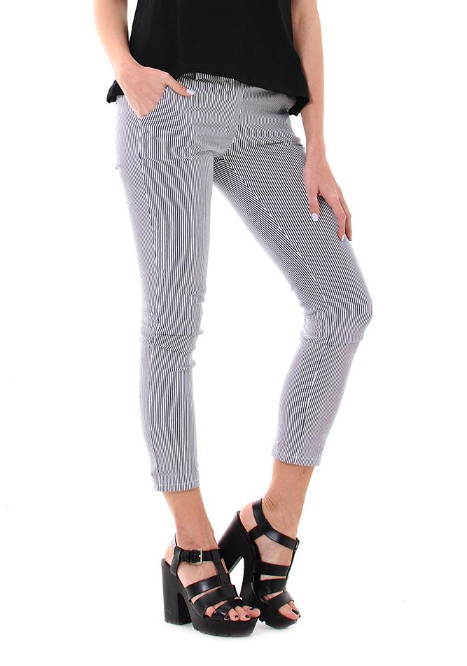 Υφασμάτινο Παντελόνι Wear Stripes αρχική γυναικεία ρούχα παντελόνια