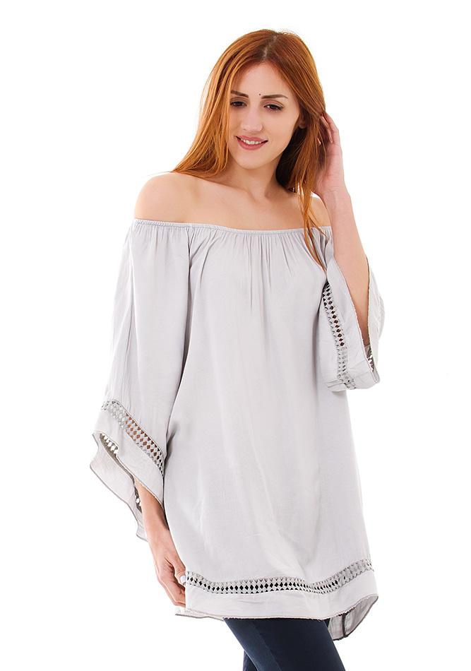 Μπλούζα Scarf Beige αρχική γυναικεία ρούχα μπλούζες   tops