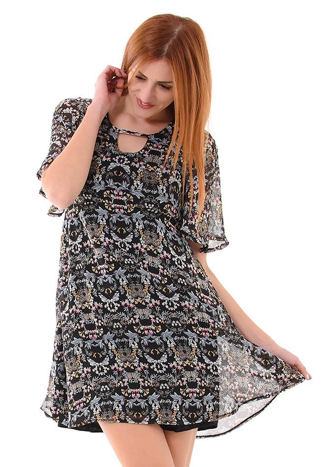 Φόρεμα Basic Floral αρχική γυναικεία ρούχα φορέματα   φούστες