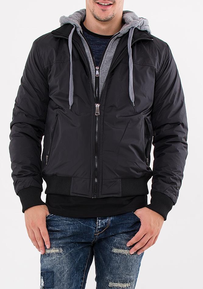 Ανδρικό Μπουφάν Palablu Grey Black αρχική ανδρικά ρούχα μπουφάν