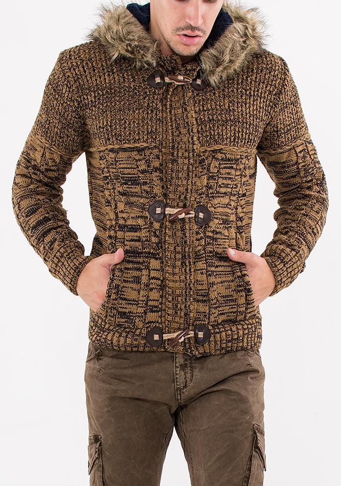 Πλεκτή Ζακέτα Zen Brown αρχική ανδρικά ρούχα ζακέτες