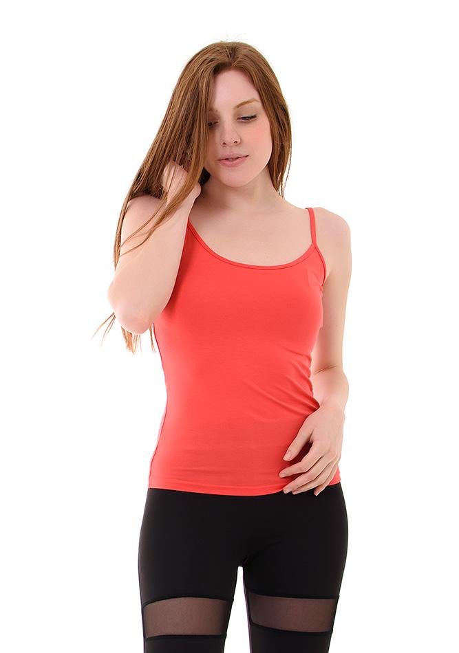Top Bretelles Coral αρχική γυναικεία ρούχα μπλούζες   tops