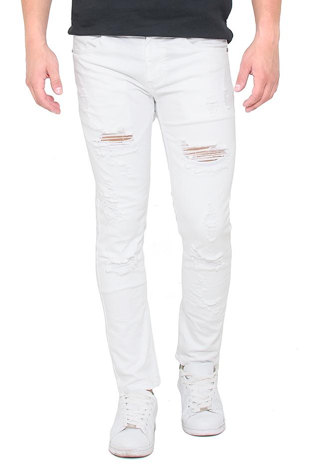 Ανδρικό Jean White Pants αρχική ανδρικά ρούχα παντελόνια παντελόνια jeans