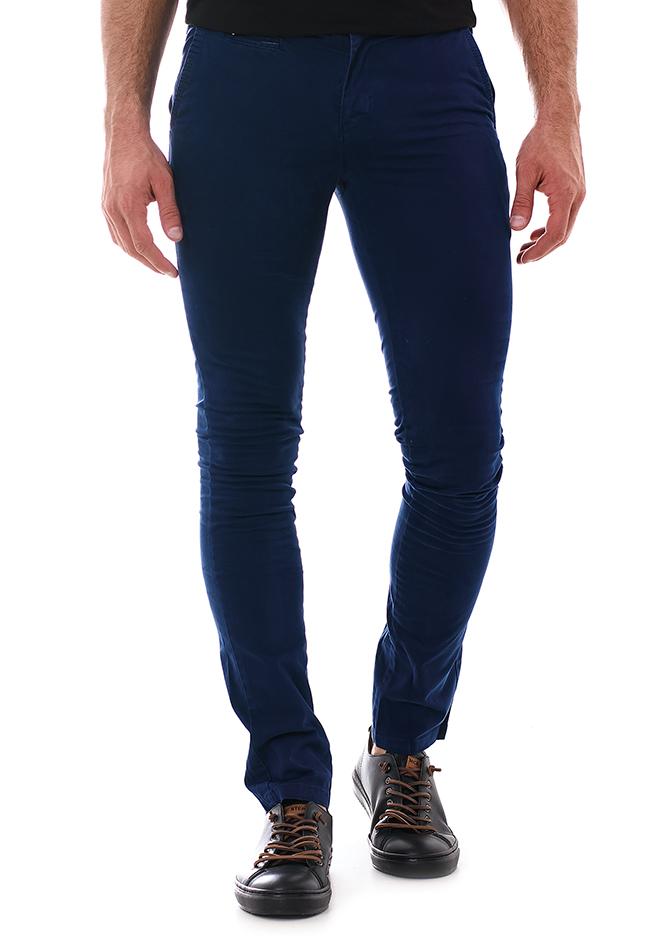 Ανδρικό Chino Παντελόνι Fine Blue αρχική ανδρικά ρούχα επιλογή ανά προϊόν παντελόνια παντελόνια chinos
