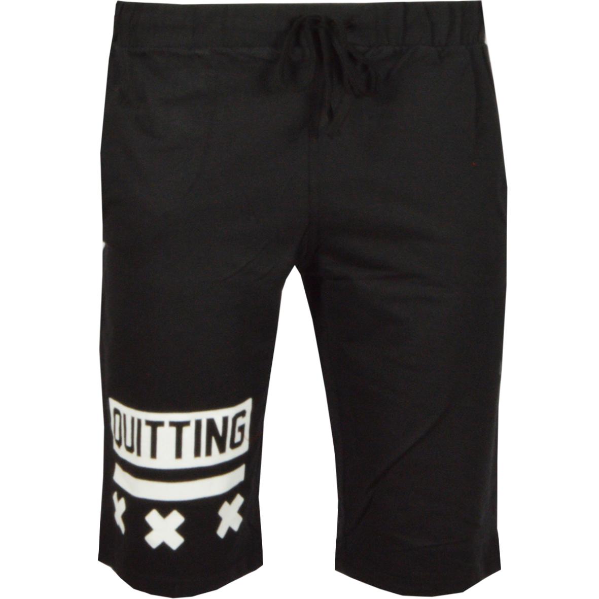 Ανδρική Βερμούδα Quitting-Μαύρο αρχική ανδρικά ρούχα επιλογή ανά προϊόν βερμούδες