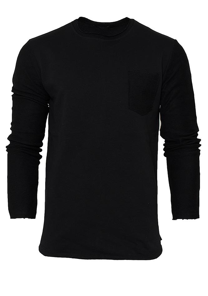 Ανδρικό Φούτερ Back Sewing Black αρχική ανδρικά ρούχα μπλούζες