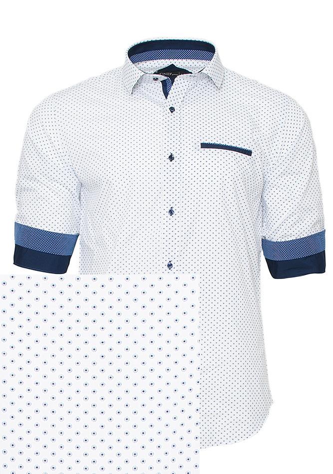 Ανδρικό Πουκάμισο CND White Poua αρχική ανδρικά ρούχα επιλογή ανά προϊόν πουκάμισα