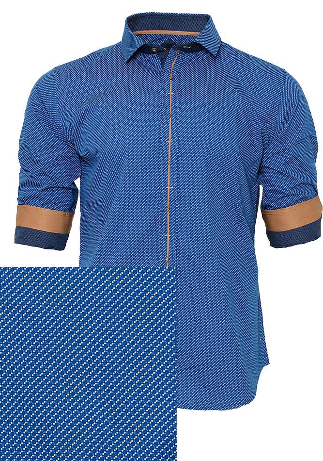 Ανδρικό Πουκάμισο CND Blue Brown αρχική ανδρικά ρούχα πουκάμισα