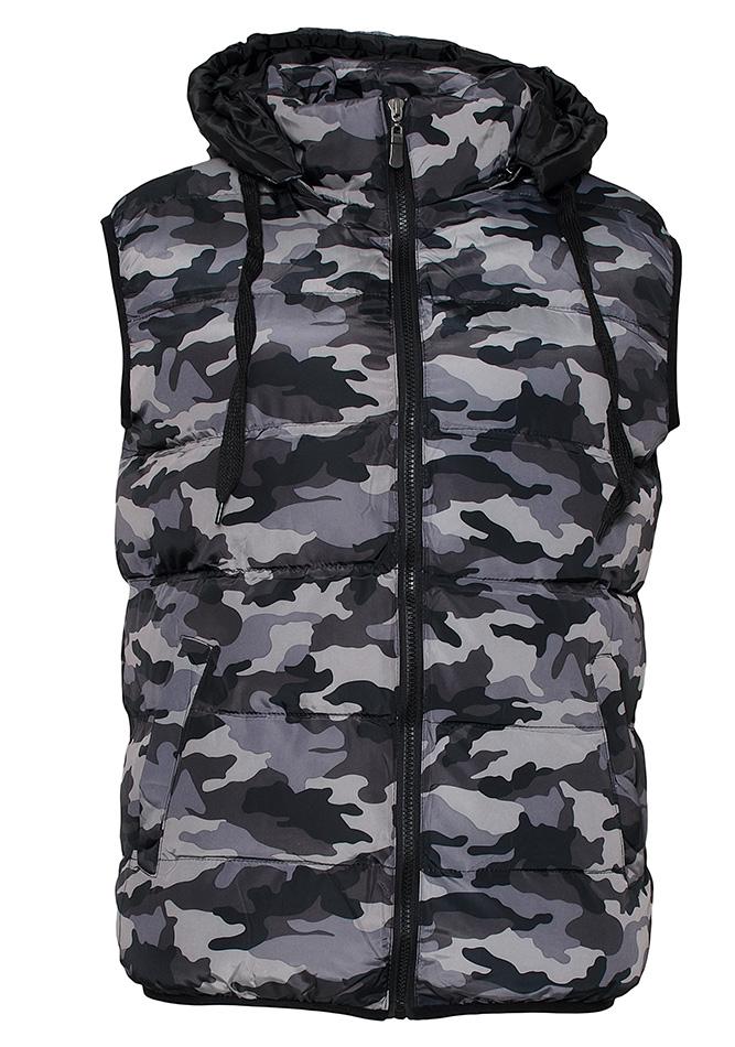 Ανδρικό Αμάνικο Μπουφάν Grey Army αρχική ανδρικά ρούχα μπουφάν