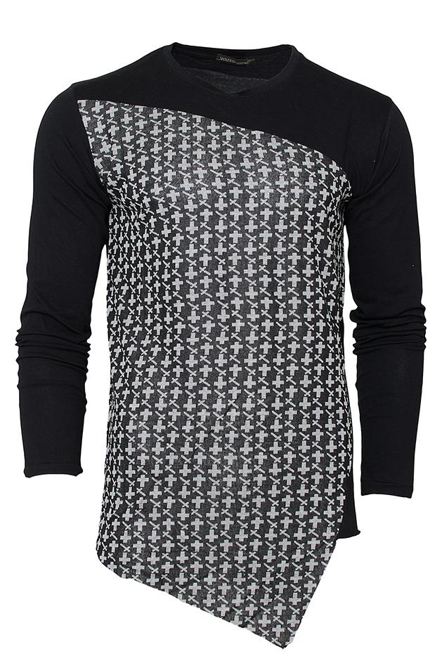 Ανδρική μπλούζα Wilfed Βlack αρχική ανδρικά ρούχα μπλούζες