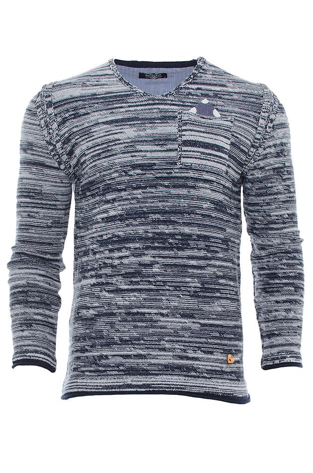 Μπλούζα Grey Pocket Poua αρχική ανδρικά ρούχα πλεκτά