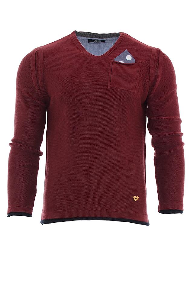Μπλούζα Bordeaux Pocket Poua αρχική ανδρικά ρούχα επιλογή ανά προϊόν πλεκτά