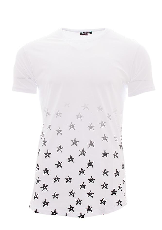 Ανδρικό T-shirt White Stars αρχική ανδρικά ρούχα t shirts