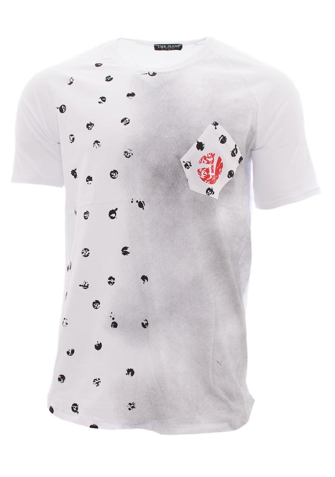 Ανδρικό T-shirt Poua Circle White αρχική ανδρικά ρούχα επιλογή ανά προϊόν t shirts