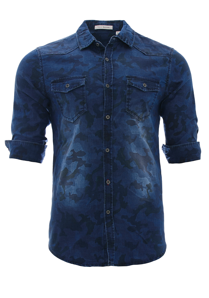 Ανδρικό Πουκάμισο Tony Backer Blue Army αρχική ανδρικά ρούχα επιλογή ανά προϊόν πουκάμισα