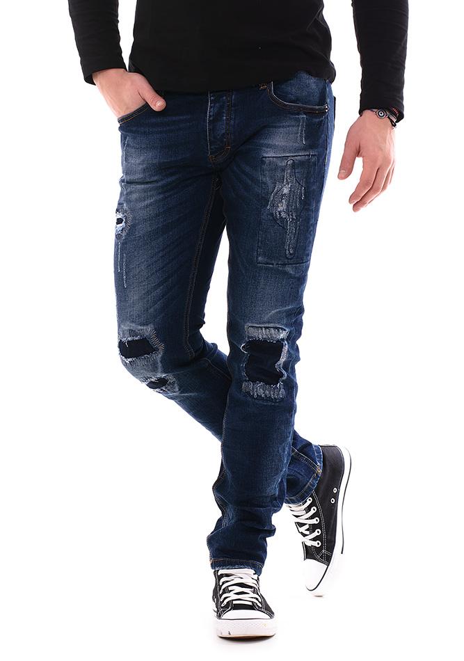 Ανδρικό Jean Enos Blue New αρχική ανδρικά ρούχα παντελόνια jeans