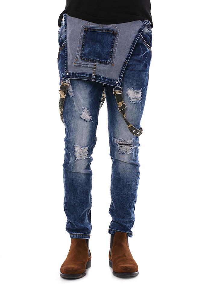 Ανδρική Σαλοπέτα Jean Justing Army αρχική ανδρικά ρούχα επιλογή ανά προϊόν παντελόνια παντελόνια jeans